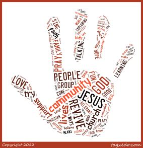 revive word cloud hand